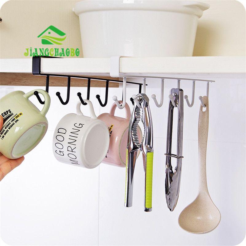 Fer cuisine rangement Rack placard suspendu crochet étagère plat cintre coffre rangement étagère salle de bain support organisateur