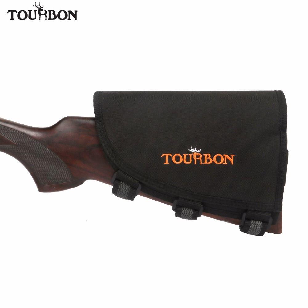 Ankunfts-tourbon Jagd Gun Zubehör Gewehr Pistole Hinterschaft Wange Rest w/3 pads Eingestellt Schießen Hält 10 Gewehr Patronen Munition halter
