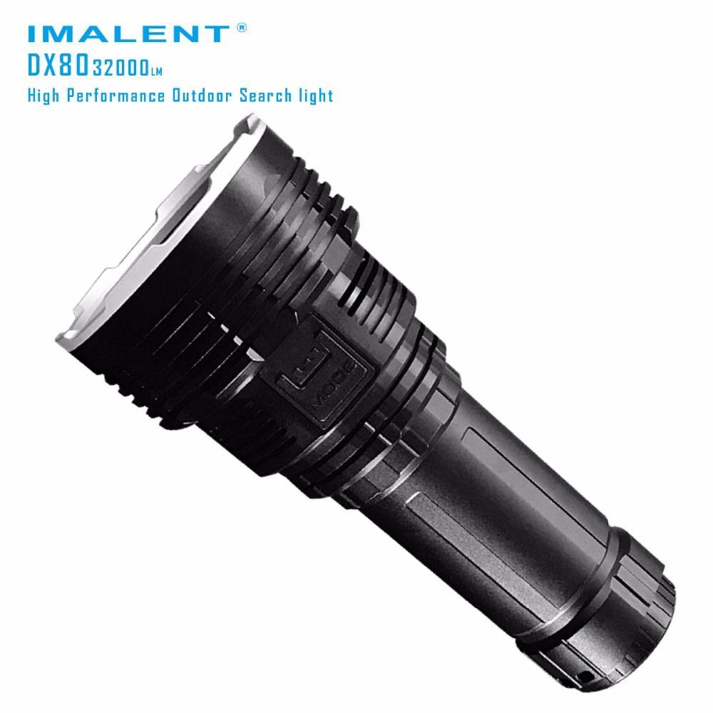 Original IMALENT DX80 LED Taschenlampe CREEXHP70 32000 lumen strahl abstand 806 meter Taschenlampe Flash licht mit Batterie + USB Lade