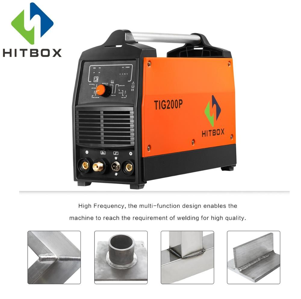 HITBOX TIG200P Welders Hot Selling Gas TIG Welding Machine 220V IGBT Module Portable Size Pulse Tig Machine