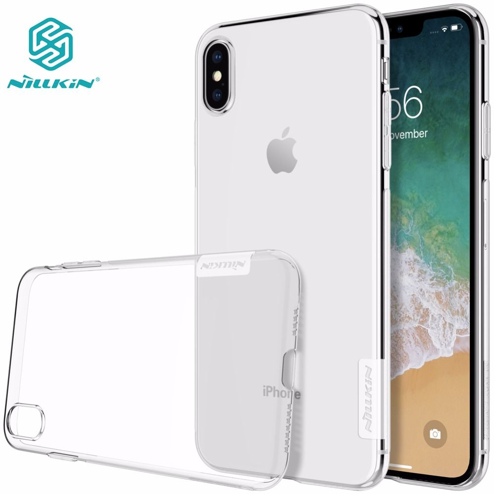 Case for iphone XS Max NILLKIN Nature TPU Transparent soft back cover case for iphone xs max x xr 5 s se 6