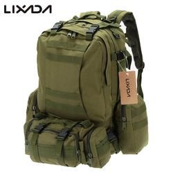 Free Shipping Lixada 50L Outdoor Military Molle Tactical Backpack Rucksack Hiking Camping Water Resistant Bags 600D Camouflage