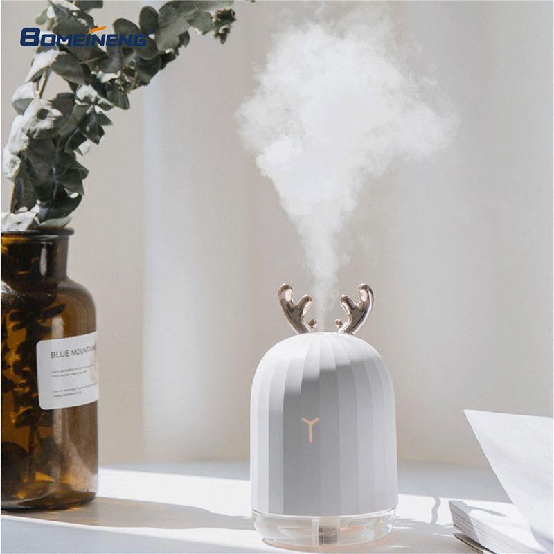BOMEINENG 220 ml De Noël Blanc Cerf Air Humidificateur D'huile Essentielle Diffuseur pour La Maison De Voiture Aromathérapie Arôme Diffuseur avec Lampe