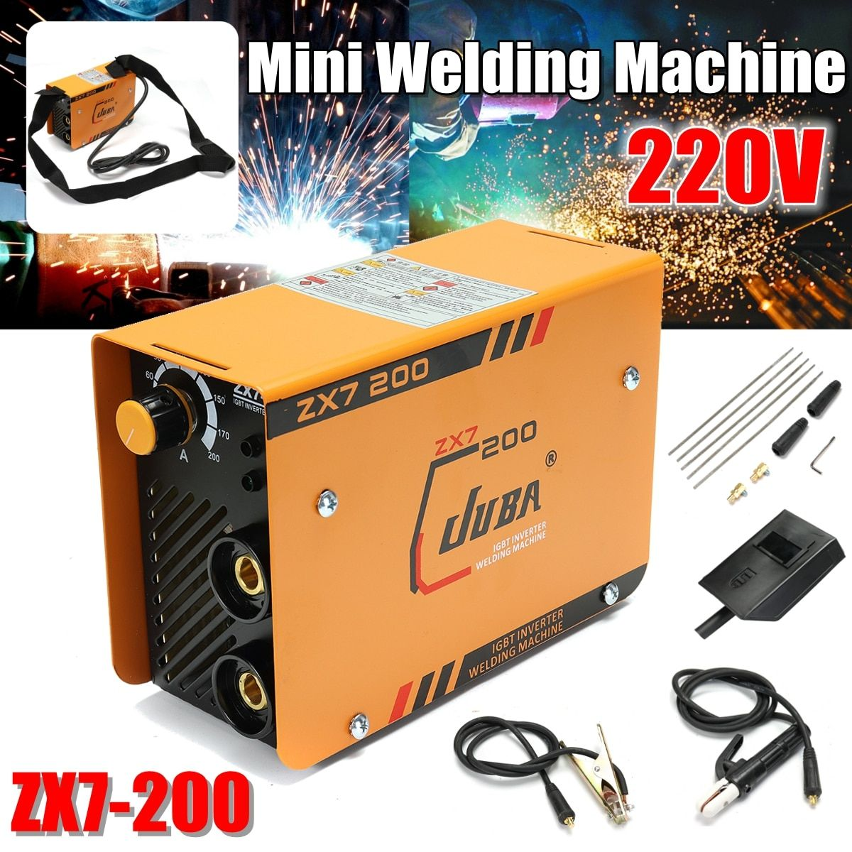 Mini 220V Inverter AC Arc Welding Machine zx7-200 MMA W elder for Soldering Welding Working and Electric Working
