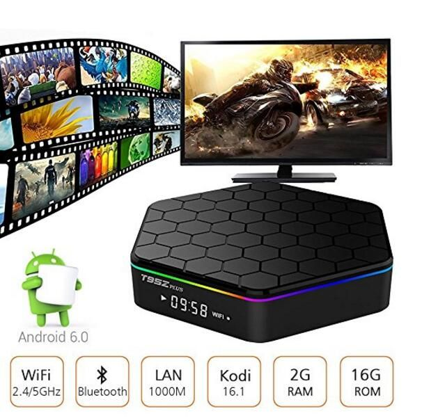 T95Z Plus 20pcs 2g 16g/3g 32g t95z+ Amlogic S912 2G 16G tv box Octa-core cortex-A53 Android6.0 media player