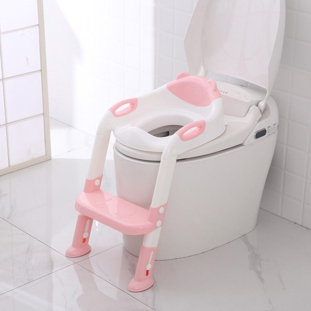 Folding Baby Potty Infant Kids Toilet Training Seat with Adjustable Ladder Portable Urinal Potty Training Seats Children Care