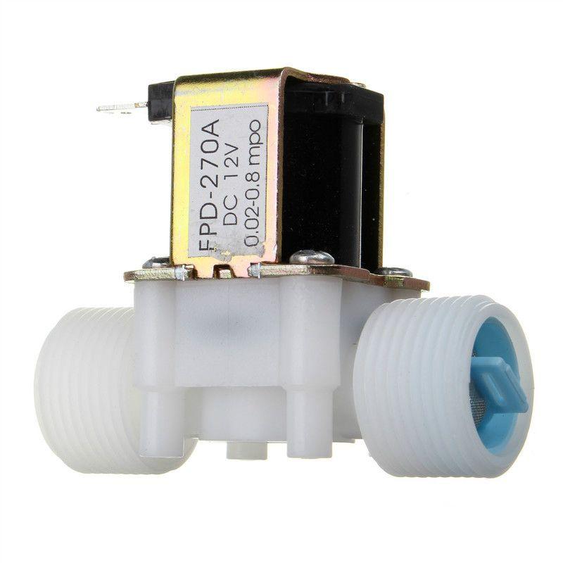 Neue Ankunft Kunststoff elektrische 12 V Wasser Magnetventil DC 3/4 N/C normalerweise geschlossen Einlass Flow Control