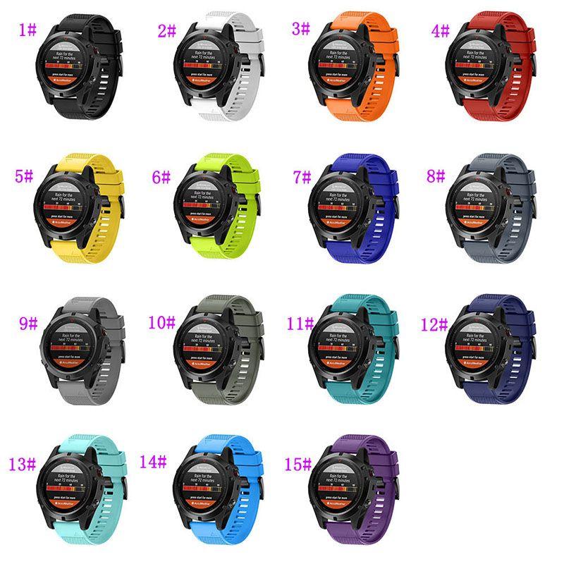 Centechia Watchband For Garmin Fenix 5X/Fenix 3/Fenix 3 HR Replacement Soft Silicone Watch Strap Band eals @JH