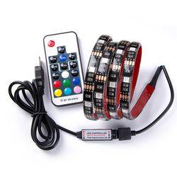 DC 5 V USB RGB LED bande SMD 5050 Flexible Lumière Lampes LED lumière TV Fond Éclairage Adhésif Bande 50 CM 1 M 2 M 3 M 4 M 5 M