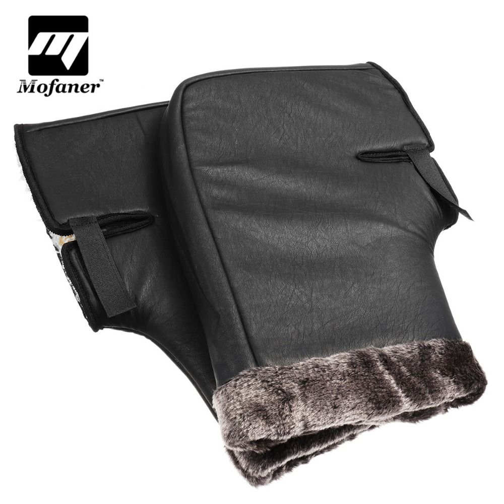 Mofaner Motorcycle Scooter Quad Bike Handlebar Hand Fur Muffs Gloves Mitts Winter Warmer