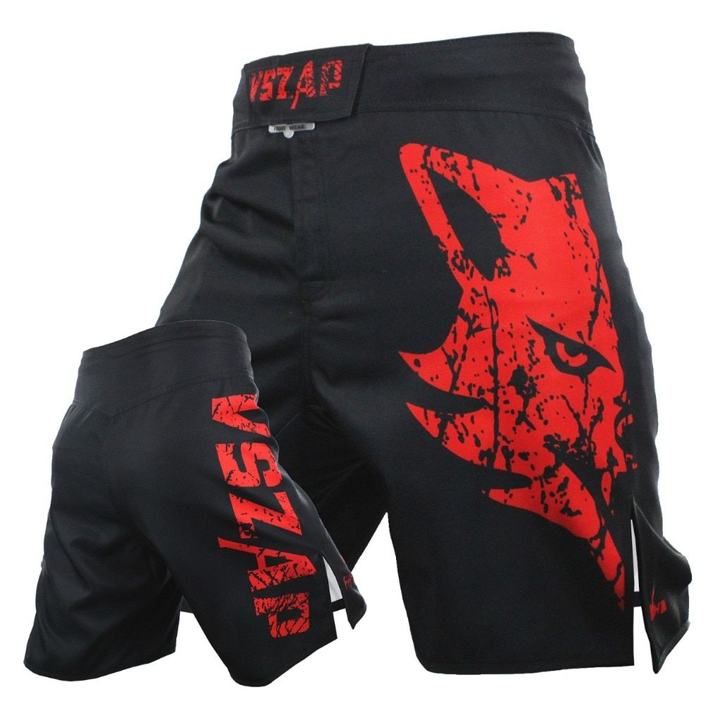 VSZAP Pantalon MMA Fight Boxing Shorts Motion Clothing Cotton Loose Size <font><b>Training</b></font> Kickboxing Shorts Muay Thai MMA Shorts Mens