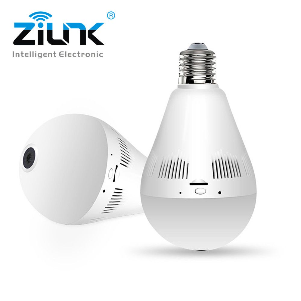 ZILNK 1080P HD Bulb Light Wireless IP Camera Wi-FI FishEye 360 Degree Panoramic Mini Lamp Wifi Camera IR CCTV Home Security