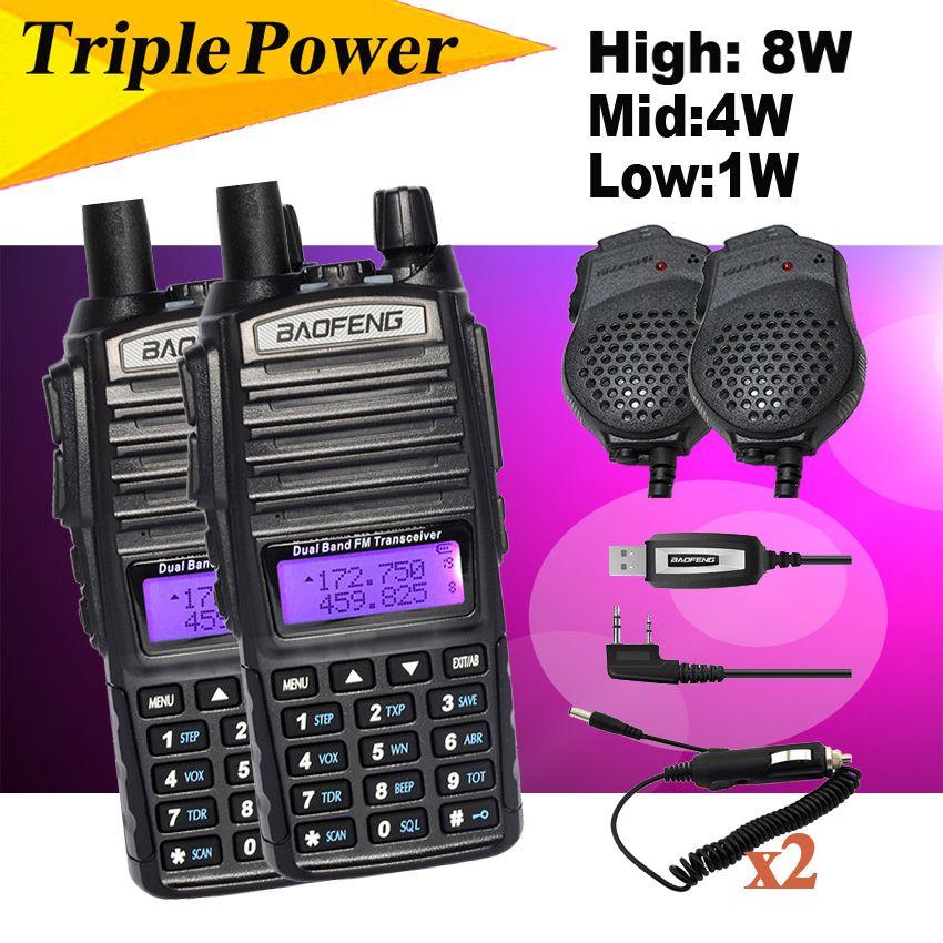 BAOFENG UV 82 UV-5R 8W UV-82HX Dual PTT UHF VHF Radio Walkie-Talkie,Sister Ham CB Radio Baofeng UV-82 Plus UV-8D UV-5RA GT-3TP