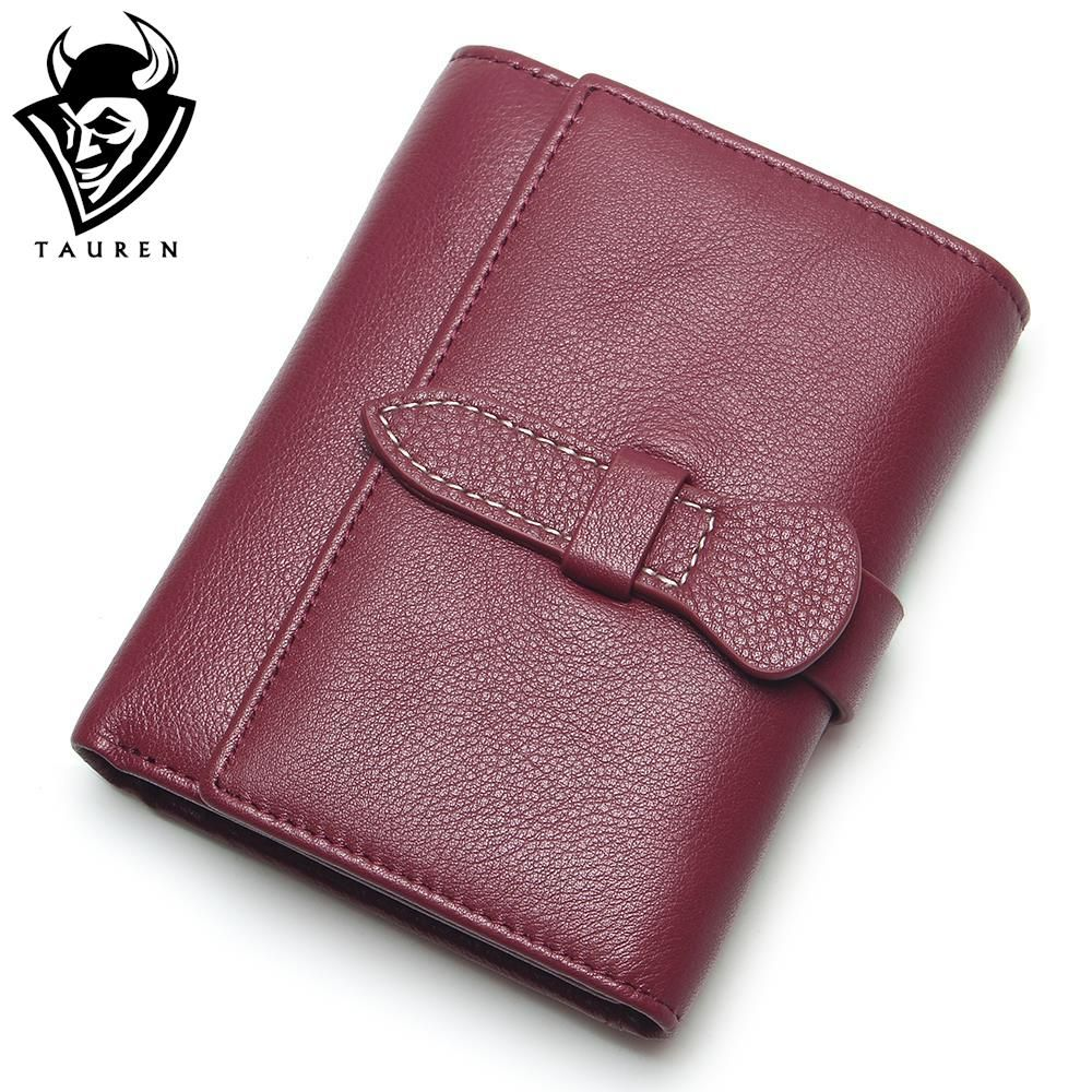 2018 New Small Women Wallets Female Top Genuine Leather Short Womens Wallet Zipper Design With Coin Purse Pockets Soft Walet