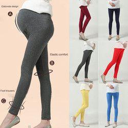Doux Réglable Femmes Enceintes Leggings Abdominale Maternité Pantalon Pantalon Mince Du Ventre Leggings Pantalon Solide Couleur