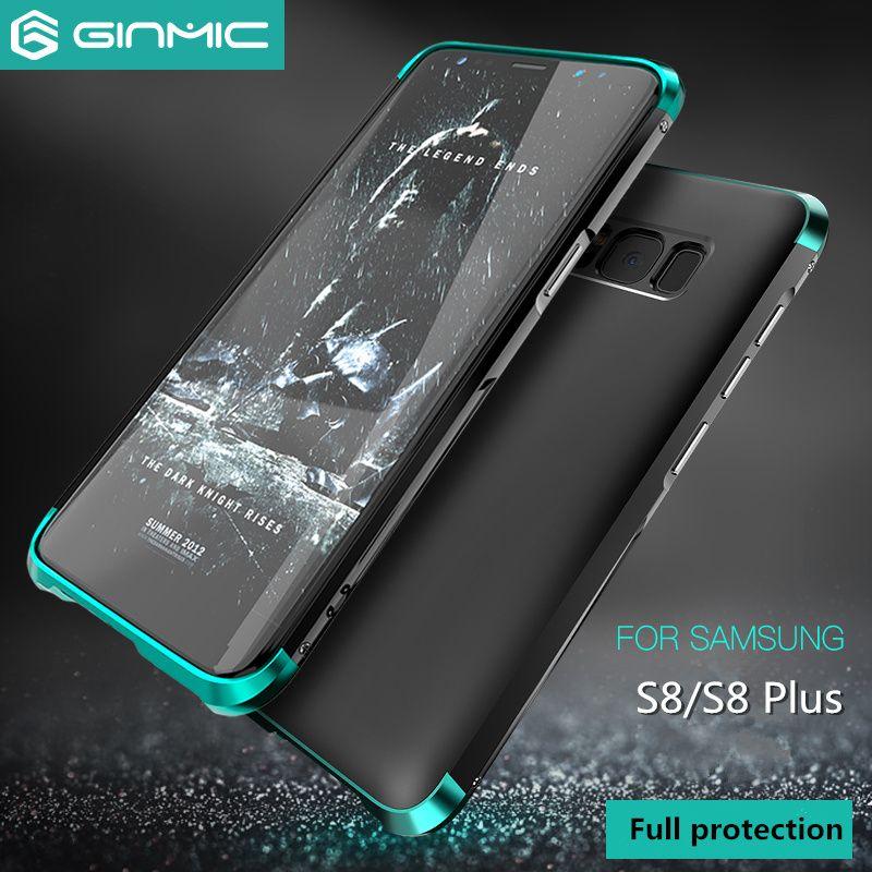Pour Samsung Galaxy S8 Cas De Luxe 360 Pleine Protection 3in1 Métal + PC Dur Hybride Mince Couverture Pour Samsung Galaxy S8 Plus Shell