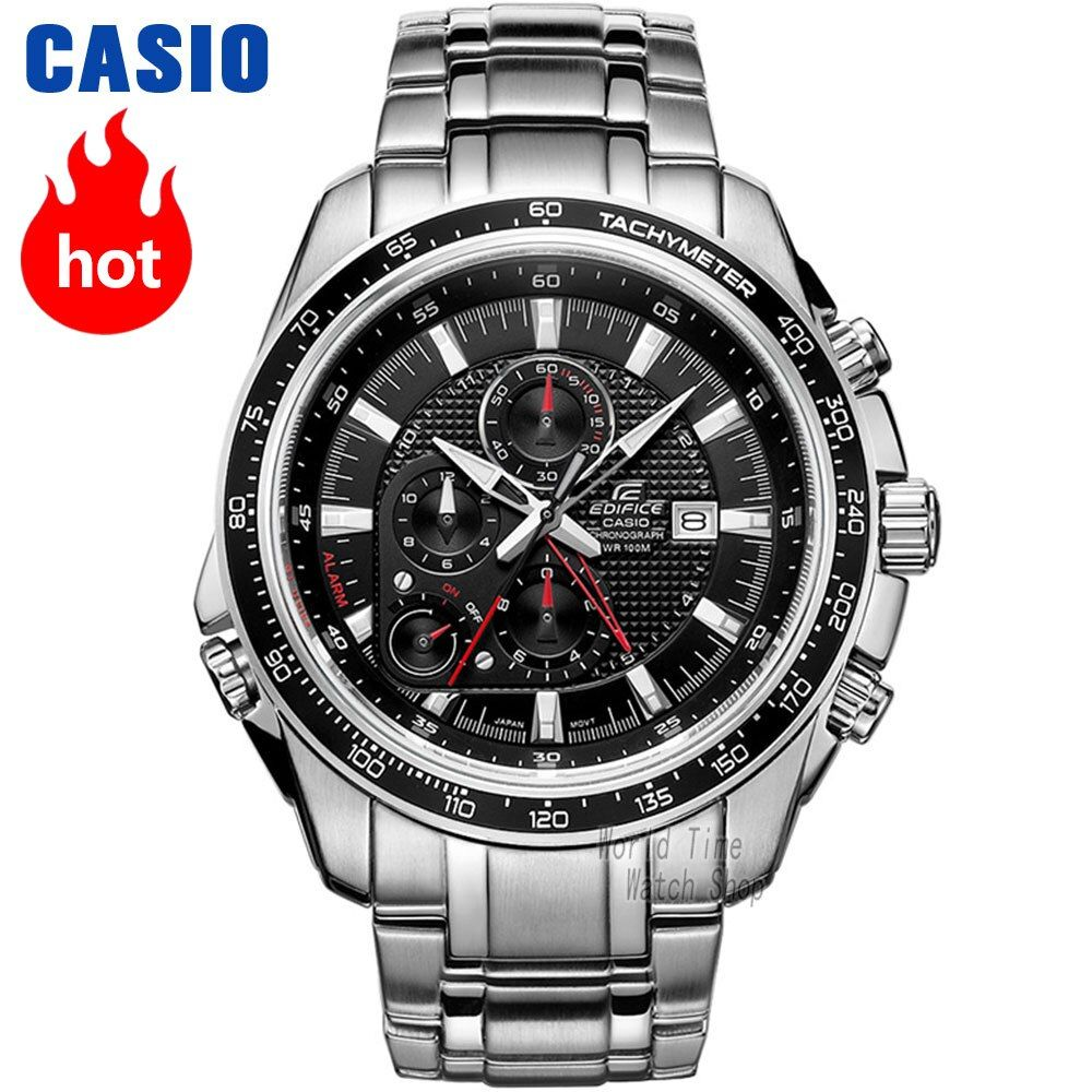 Casio watch Edifice Men's Quartz Sports Watch Leather Strap Steel Belt Fashion Urban Pointer Watch EF-545