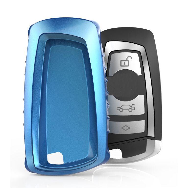 New Design TPU Plated Car Key Remote Key Cover Case for  BMW F05 F10 F20 F30 Z4 X1 X4 X6 M1 M2 M3 E90 Car Key Chain Key Ring