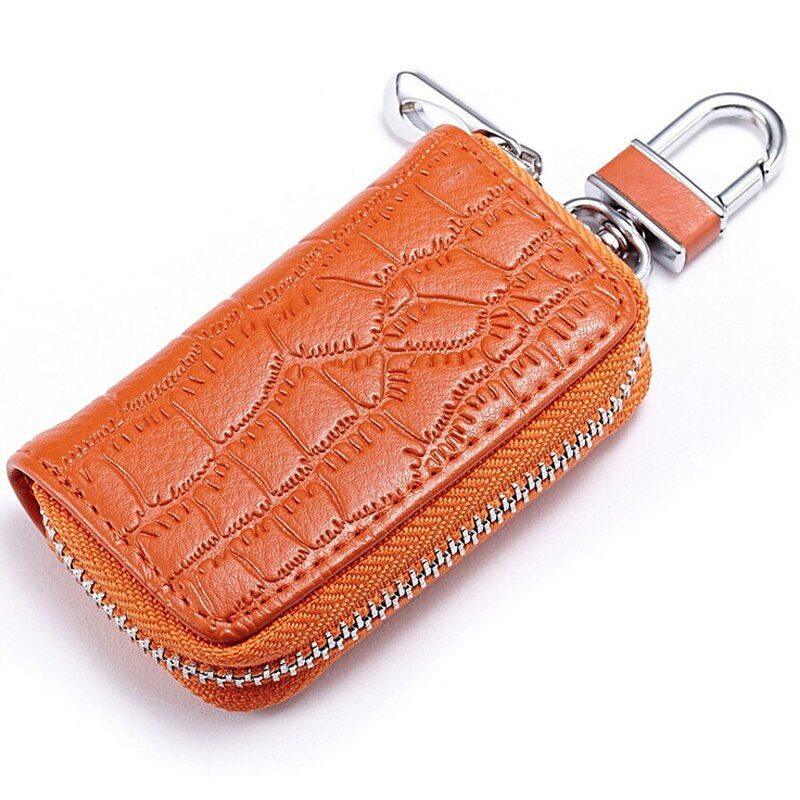 Hot sale Genuine leather Crocodile pattern Car key holder Key Pouch Bag Portable Men Car Key Wallets purse for women