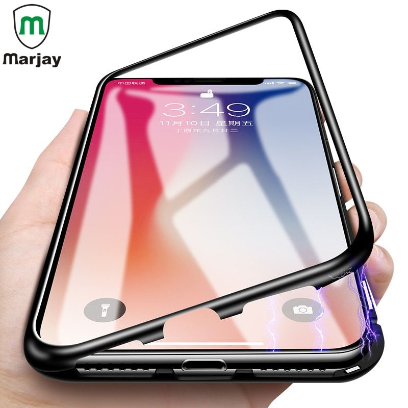 Magnetic Metal Case For iphone X 8 7 6S 6 XS Max XR Samsung Galaxy S9 S8 Plus S7 Edge Note 9 Huawei P20 Lite Mate 10 Pro Case