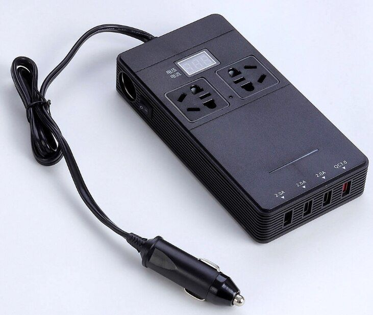 Car inverter 12V to 220V Power converter QC3.0 fast charge inverter USB charger