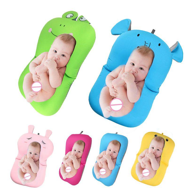 Baby bath tub Newborn Baby Foldable Baby bath tub pad & chair & shelf newborn bathtub seat infant support Cushion mat bath mat