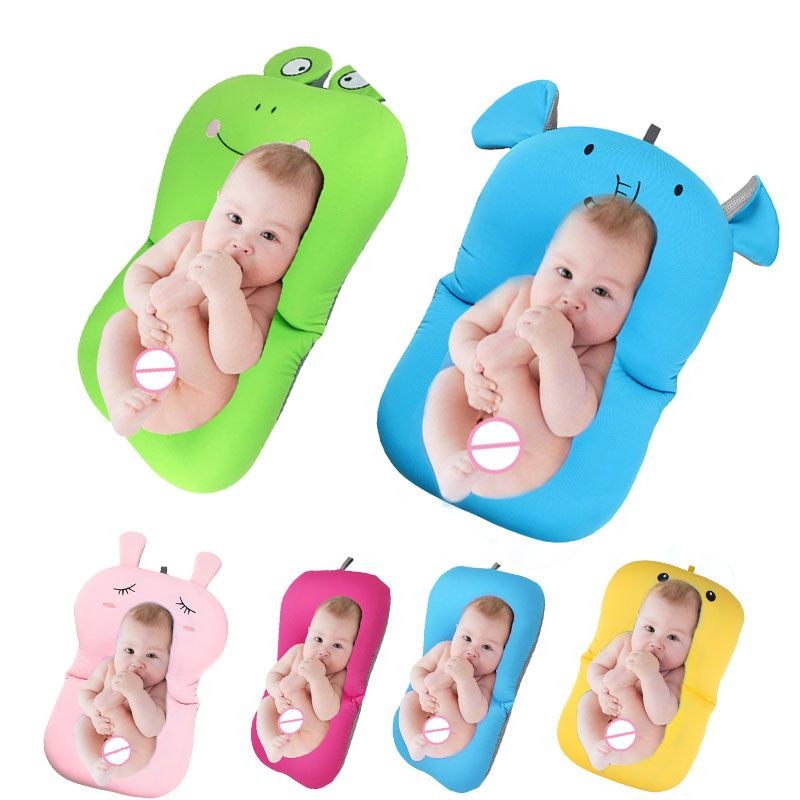 Baby bath tub Newborn Baby <font><b>Foldable</b></font> Baby bath tub pad & chair & shelf newborn bathtub seat infant support Cushion mat bath mat