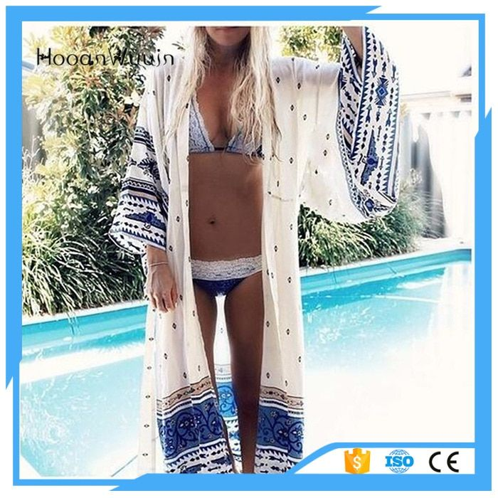 2017 new Swim suit Knitted Cloak Blouse Bikini Beach Dress women Fringed Shawl