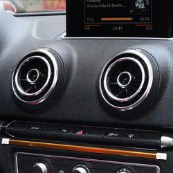 Accessoires Intérieurs de voiture Pour Audi A3 2014-2017 Q2 2017 Instrument Bureau Air-Conditionné Sortie En Aluminium Décoratif Autocollants