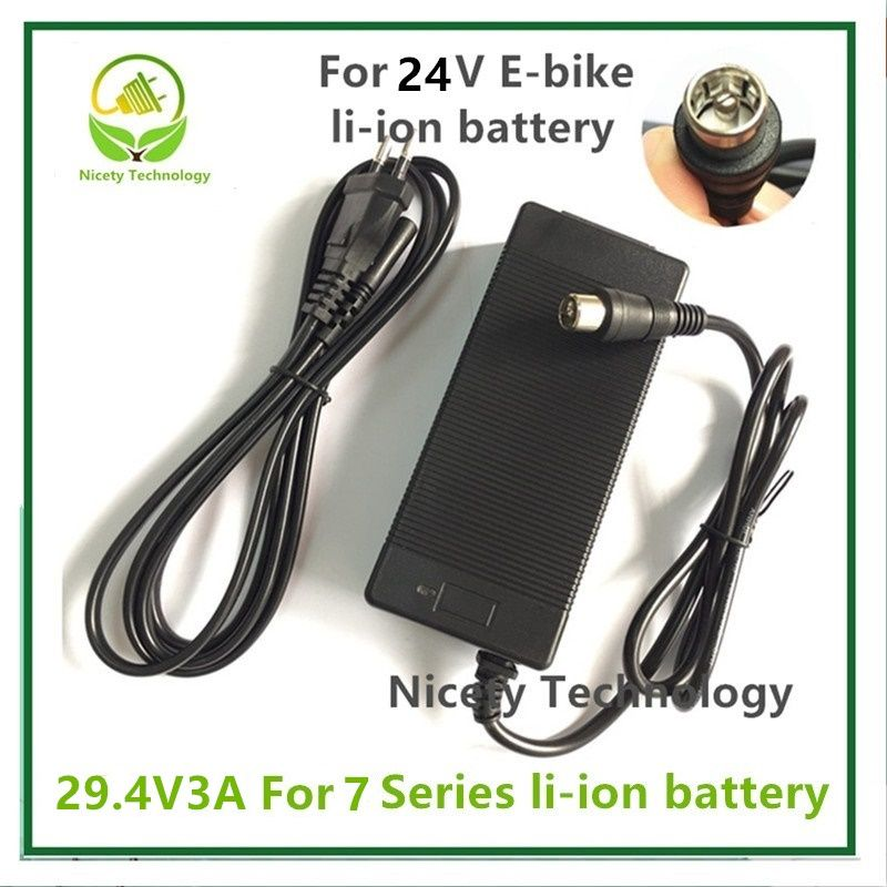 29.4V3A chargeur 29.4 v 3A pour vélo électrique batterie au lithium chargeur pour 7 série 24 V batterie au lithium pack fiche rca