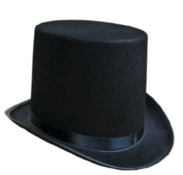 The magician performed high Hat Halloween hat cap flat black hat Jazz stage performances of men and women