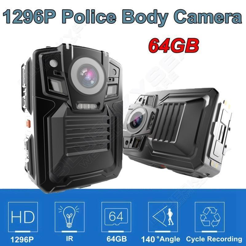 BOBLOV HD66-02 64GB Ambarella A7L50 Super HD 1296P Police Body Worn Camera IR Light 140 Degree Video Recorder Camera