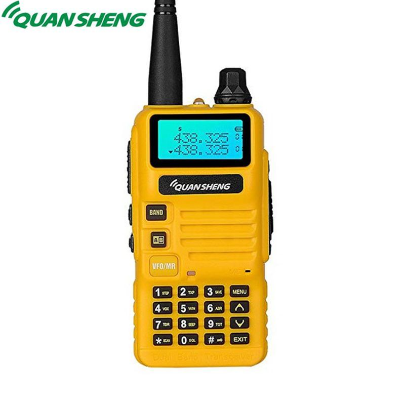 Quansheng UV-R50 Walkie Talkie VHF UHF Dual Band Long Range UVR50 Communicator Portable Two Way Radio UV R50 5W FM Transceiver