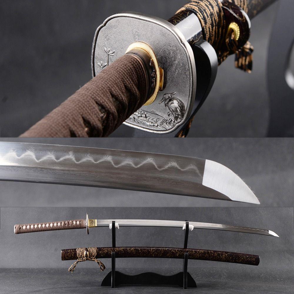 Battle Ready Samurai Katana Japanese Sword Handmade Full Tang Cutting Practice Espada Folded Steel Clay Tempered Blade Knife