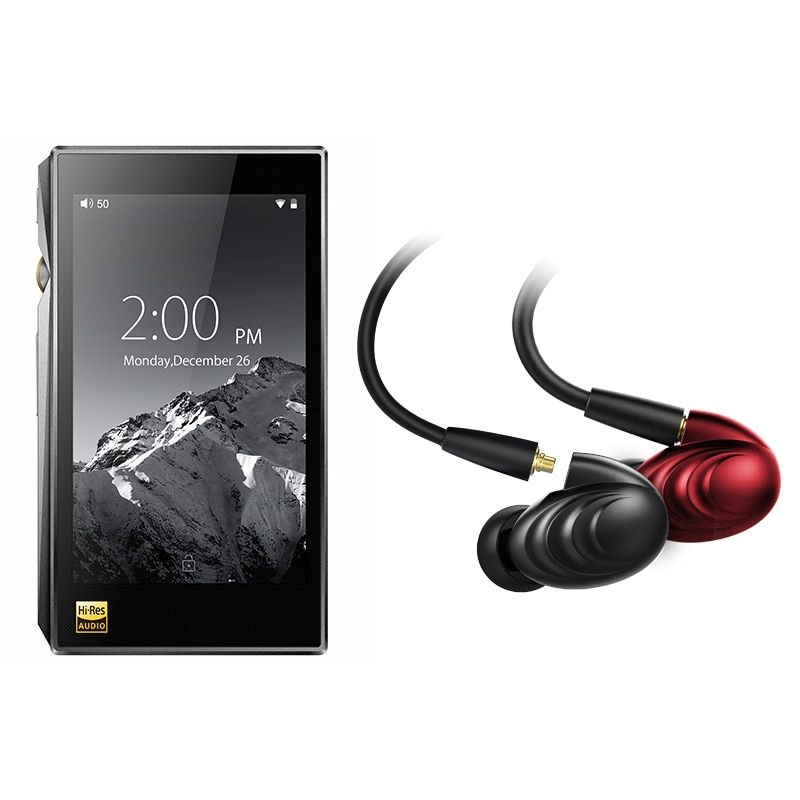Bundle Sale of FiiO Portable Hi-Res Music Player X5 MKIII With FiiO Triple Driver Hybrid In-Ear Headphone F9