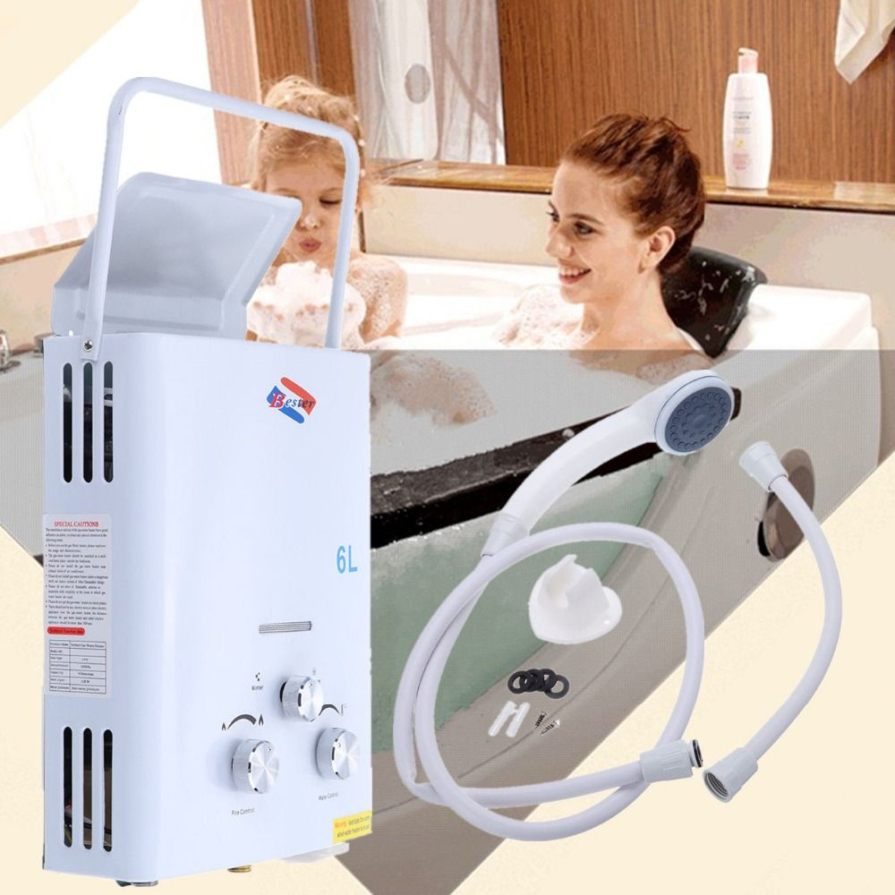 Now Usd49 Only!2018 Real Flue Type Lgp Instant / stainlessless Ul 6l Lpg Propane Gas stainless Hot Water Heater Instant Boiler