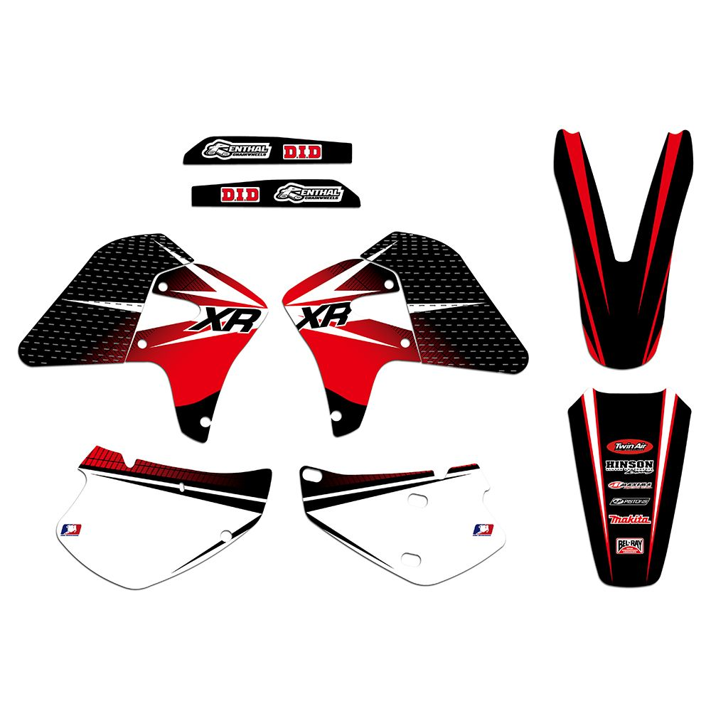 New Style TEAM GRAPHICS & BACKGROUNDS DECALS STICKERS For Honda XR650R XR 650 R 2000 2001 2002 2003 04 05 06 07 08 2009 2010