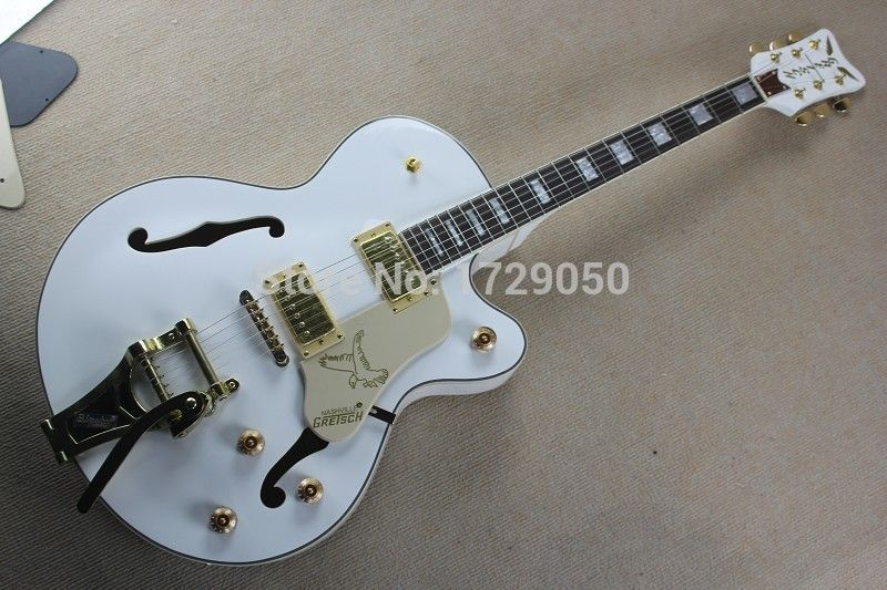 Factory Custom White Gretsch Falcon 6120 Semi Hollow Body Jazz Electric Guitar With Bigsby Tremolo 2017 1 2017 1