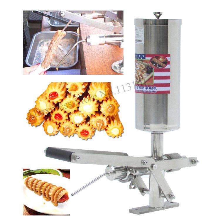 Churro Füllstoff Maschine Deluxe edelstahl churro füllung maschine kapazität 5 liter schokolade marmelade und creme füllstoff