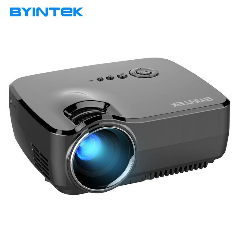 Projecteur BYINTEK GP70 2017 Meilleure vente Portable Led Projecteur HD USB HDMI LCD cinéma LED Mini Vidéo Numérique Home Cinéma Beamer