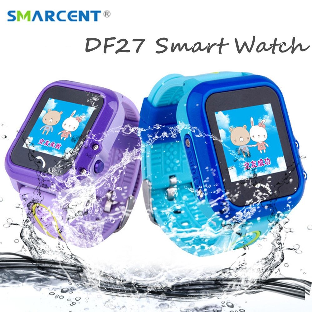 DF27 Kids GPS Smart Watch Swim Waterproof SOS Call Location Device Tracker Baby Safe Anti-Lost Smartwatch pk DF25 Q50 q100 q90