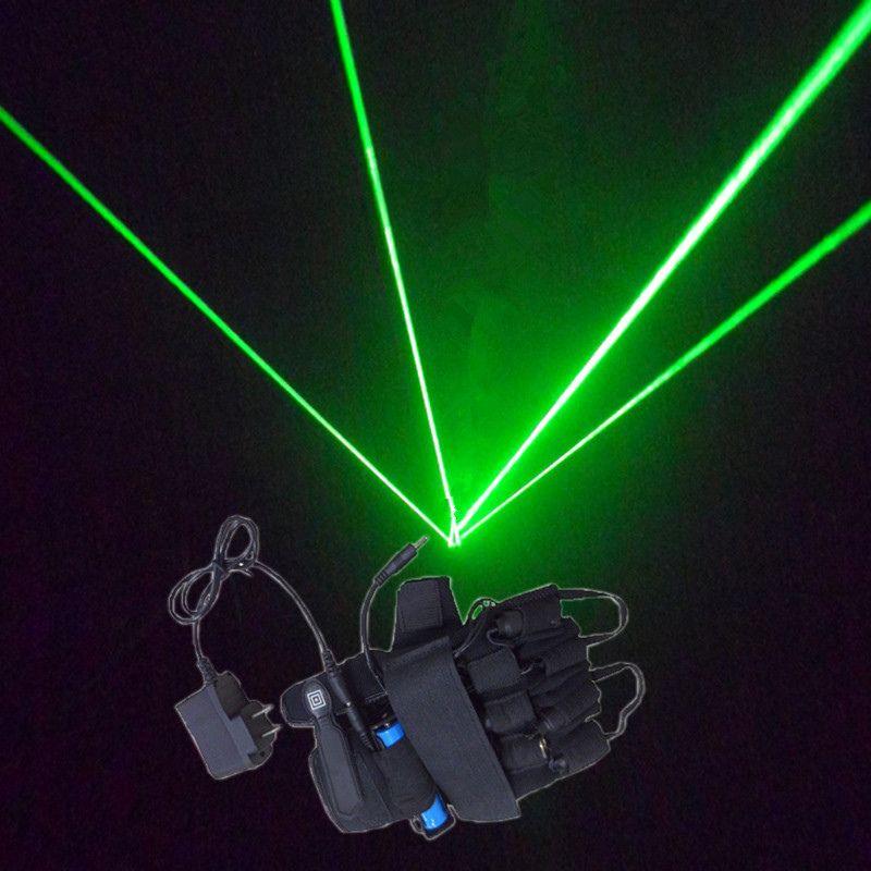Shipp libre guantes de cuatro dedos desempeño bar DJ Láser verde 532nm Nightclub dancer club stage props props Radio tira
