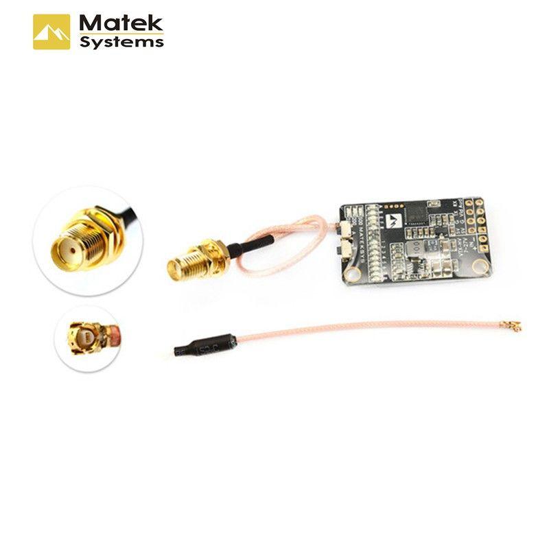 Matek 5.8G 40CH 25mW/200mW/500mW Switchable Video Transmitter VTX-HV w/ 5V/1A BEC Output For RC Quadcopter Models Spare Part