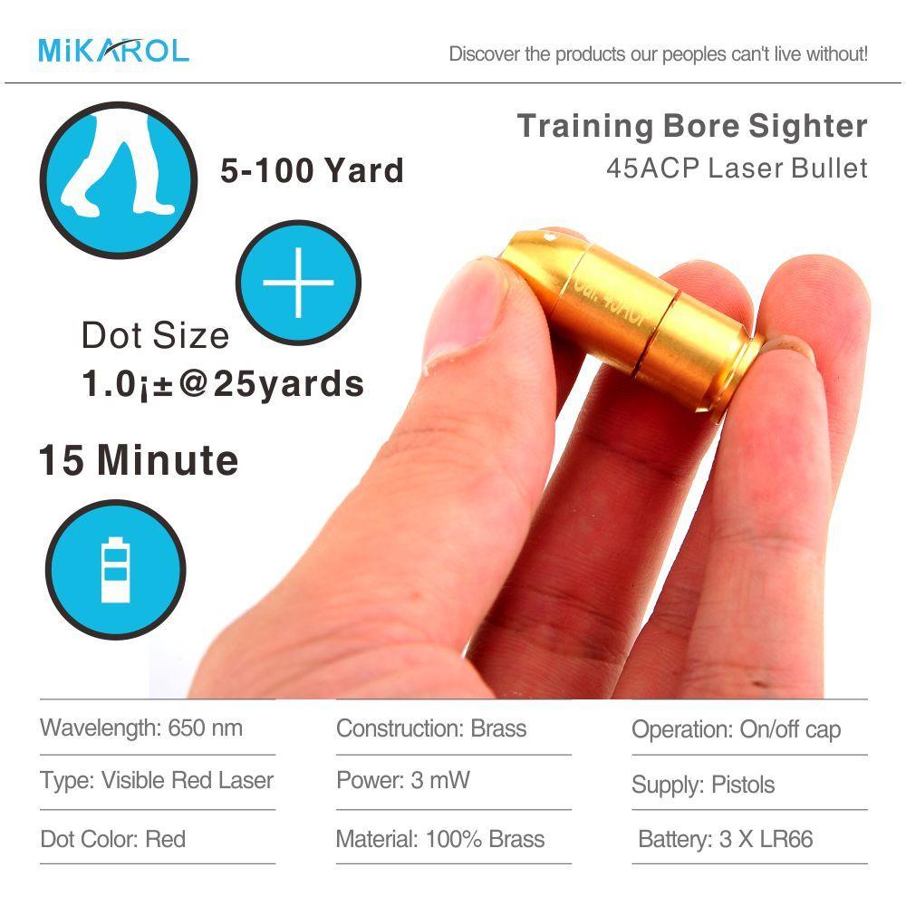 Red Dot Anblick Laser Schussprüfer Gun Bohrung Anblick 45ACP Laser Ammo, Laser Kugel, Laser Patrone für Pistole, schießen Ausbildung