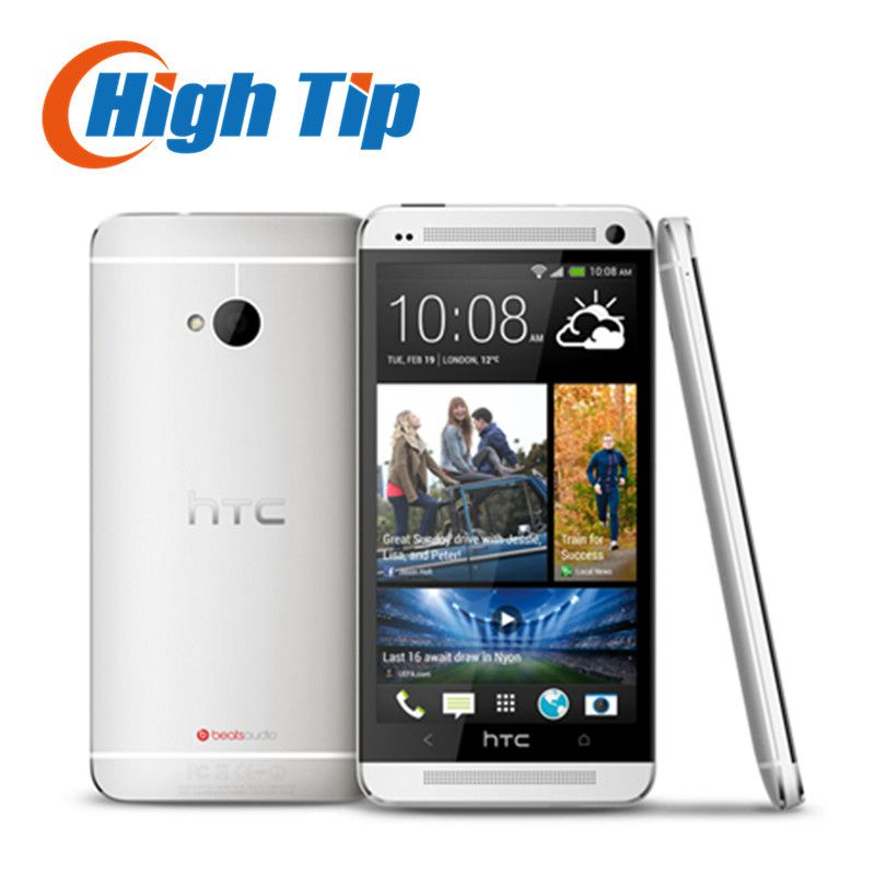 100% Original Unlocked HTC ONE M7 Android Smartphone 32GB ROM 4.7inches GPS 3G Dual camera 8MP WIFI Free shipping Refurbished