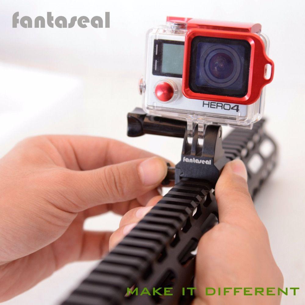 Fantaseal Picatinny support de Rail de pistolet Airsoft pistolet adaptateur pour GoPro 7 6 5 SJCAM Xiaomi Yi Sony adaptateur de pistolet de caméra d'action