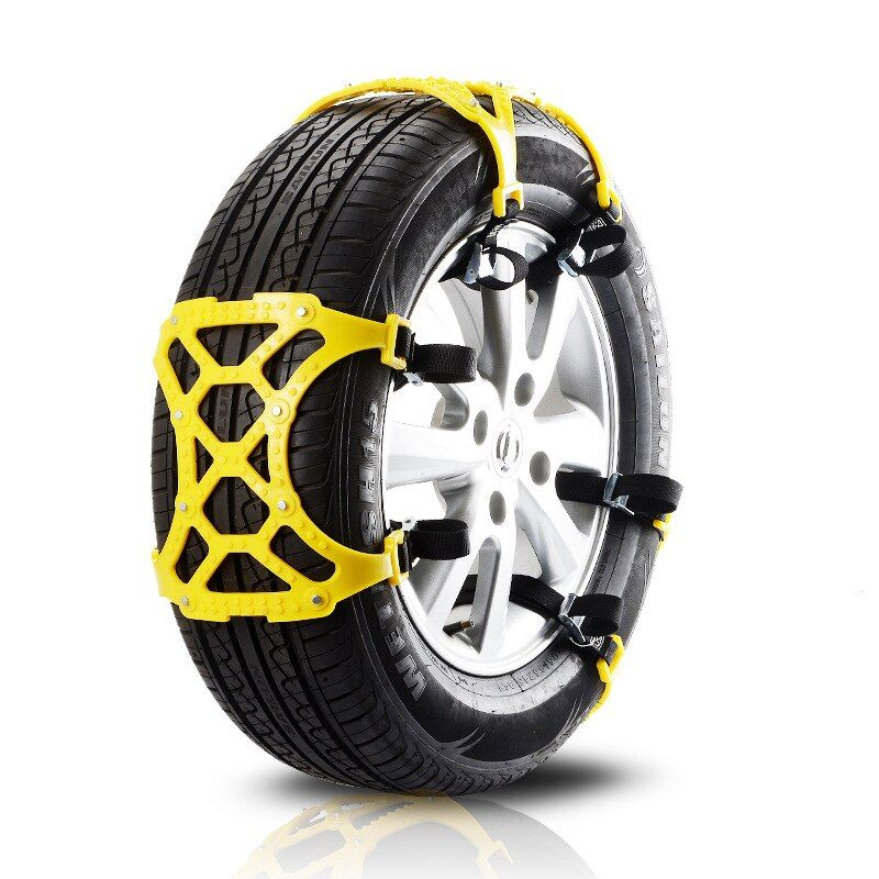 6pcs snow car tire Non-slip chains universal emergency snow chain tendon tpu car double buckle thickened Car tire accessories