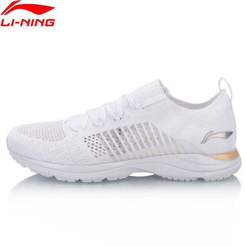 Li-Ning Frauen Super Licht XV Laufschuhe Futter Wolke Lite Turnschuhe Woven Socke Atmungsaktive Komfort Sport Schuhe ARBN016 XYP653