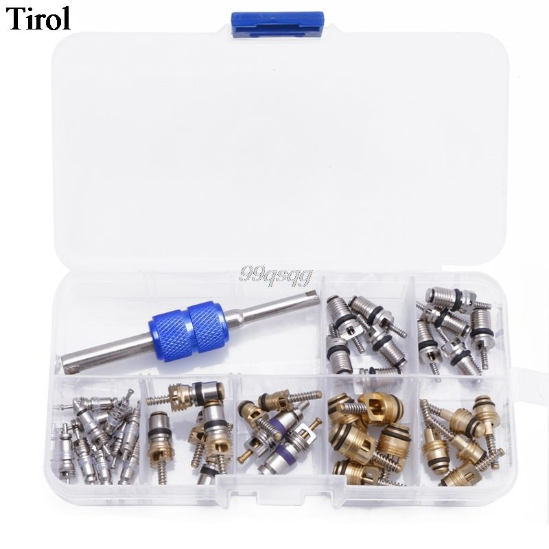 39Pcs R12 R134A Car Air Conditioning A/C Tire Valve Stem Core Remover Tool Kit Drop shipping