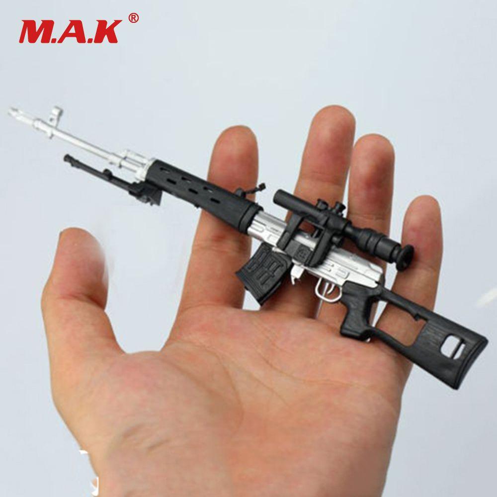 1/6 échelle russe Sniper fusil pistolet modèle argent SVD bricolage assembler en plastique pistolet modèle pour 12 pouces soldat figurine d'action